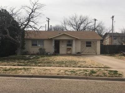 Lubbock TX Single Family Home For Sale: $94,000