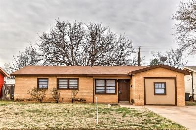 Lubbock County Single Family Home Under Contract: 4609 44th Street
