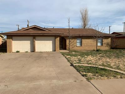 Lubbock Single Family Home Under Contract: 4510 Itasca Street