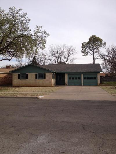 Lubbock Single Family Home Under Contract: 4707 47th Street