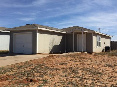Lubbock County Single Family Home Under Contract: 121 74th Street