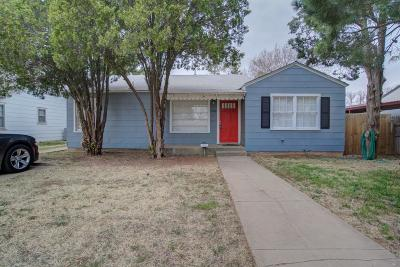 Lubbock Single Family Home Under Contract: 2206 32nd Street
