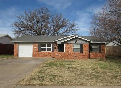 Lubbock Single Family Home Under Contract: 5406 45th Street