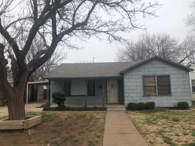 Lubbock Single Family Home Under Contract: 2511 Kenosha Avenue