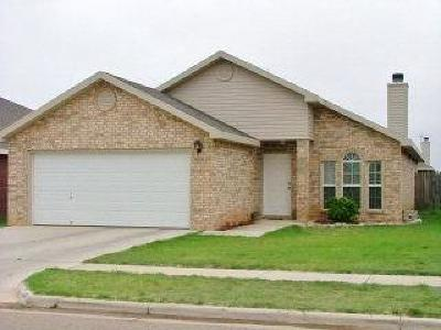 Lubbock Single Family Home Under Contract: 6540 88th Street