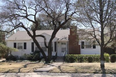 Lubbock Single Family Home For Sale: 2209 32nd Street