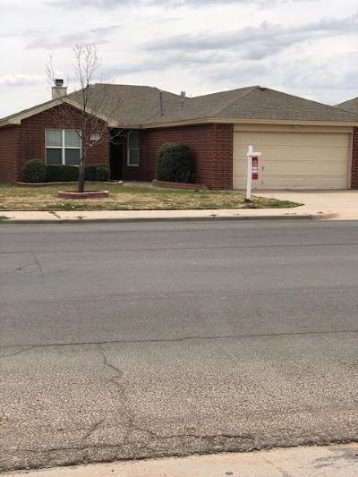 Lubbock Single Family Home Under Contract: 2505 108th Drive