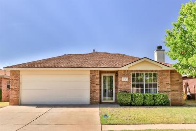 Lubbock Single Family Home Under Contract: 2707 109th Street
