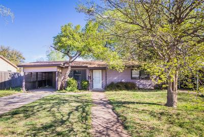 Lubbock County Single Family Home Under Contract: 2116 47th Street