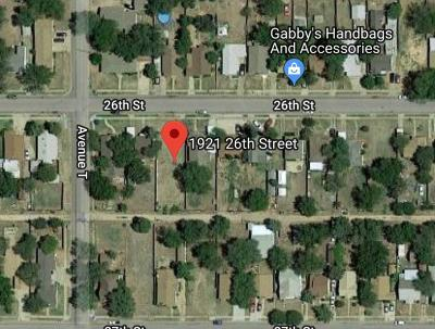 Lubbock County Residential Lots & Land For Sale: 1921 26th Street