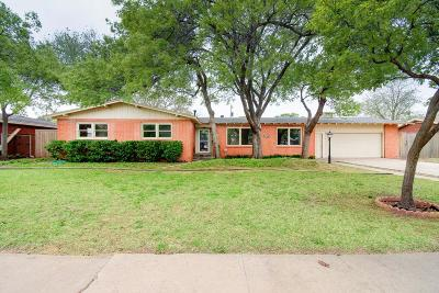 Lubbock Single Family Home Under Contract: 3703 47th Street