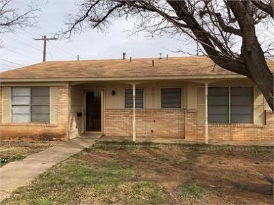 Lubbock Single Family Home For Sale: 3401 Bangor Drive