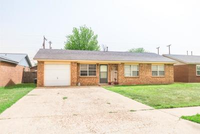 Lubbock Single Family Home Under Contract: 4619 Grinnell Street