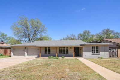 Lubbock Single Family Home Contingent: 3714 63rd Drive