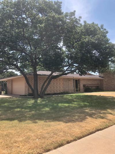 Slaton Single Family Home Under Contract: 700 S 17th Street