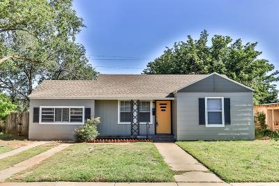 Lubbock County Single Family Home Under Contract: 2508 35th Street