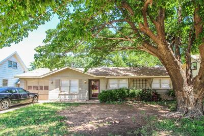 Lubbock County Single Family Home Under Contract: 1930 68th Street
