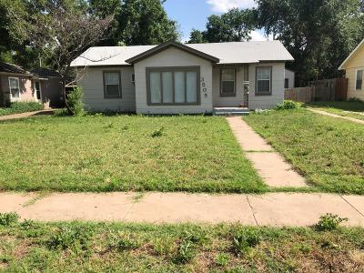 Lubbock County Single Family Home Under Contract: 3505 29th Street