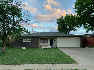 Lubbock County Single Family Home Under Contract: 4507 48th Street