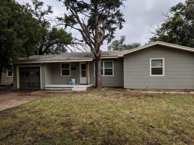 Lubbock County Single Family Home Under Contract: 3404 31st Street