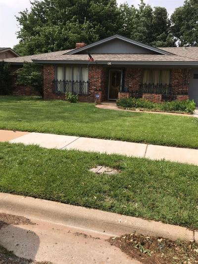 Lubbock Single Family Home Under Contract: 3410 76th Street