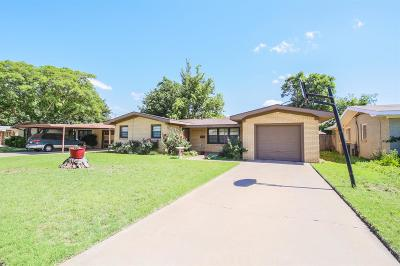 Lubbock TX Single Family Home For Sale: $125,000