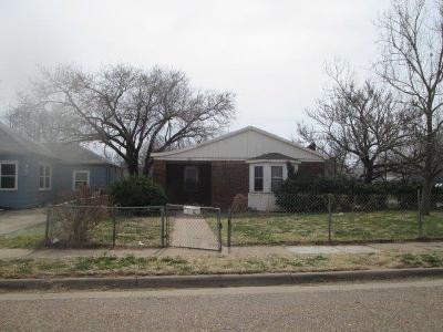 Lubbock County Single Family Home Under Contract: 1311 24th Street