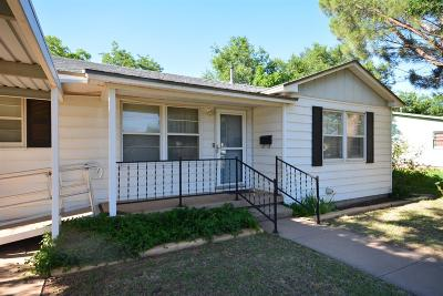 Lubbock Single Family Home Under Contract: 4806 37th Street