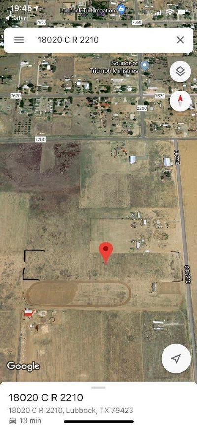 Lubbock County Residential Lots & Land For Sale: 18020 County Road 2210