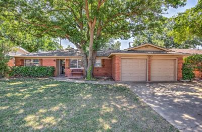 Lubbock Single Family Home For Sale: 6121 Nashville Avenue