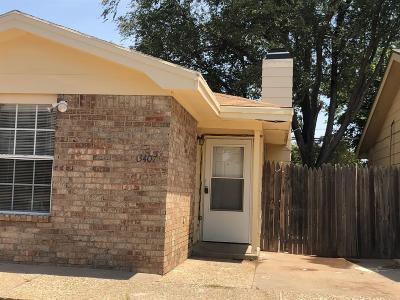 Lubbock Townhouse For Sale: 3407 Hyden Avenue