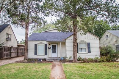 Lubbock Single Family Home Under Contract: 2616 25th Street