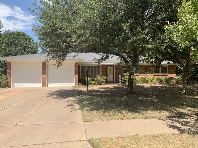 Lubbock Single Family Home Under Contract: 3812 52nd Street