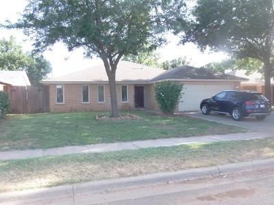 Lubbock Single Family Home For Sale: 2703 79th Street