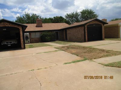 Lubbock Single Family Home For Sale: 610 N Elkhart Street