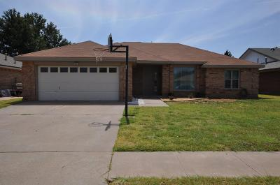 Lubbock TX Single Family Home Under Contract: $189,900