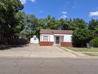 Lubbock Single Family Home Under Contract: 3112 28th Street