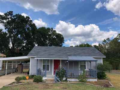 Gladewater TX Single Family Home For Sale: $65,000
