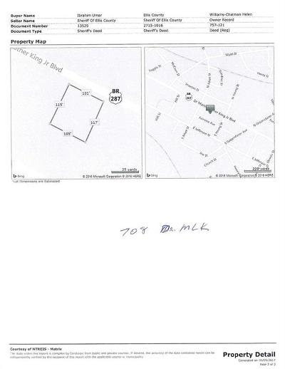 Waxahachie Residential Lots & Land For Sale: 708 Dr Martin Luther King Jr Boulevard