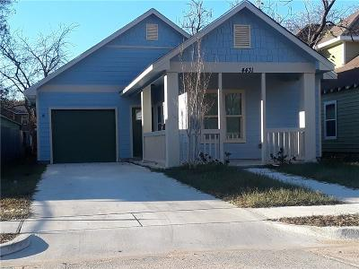 Dallas, Fort Worth Single Family Home For Sale: 4519 Frank Street