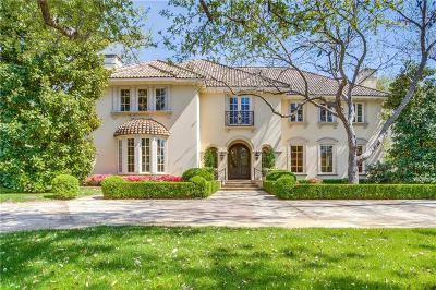 Dallas Single Family Home For Sale: 9700 Audubon Place