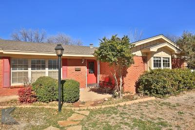 Abilene Single Family Home For Sale: 3950 Wilshire Drive