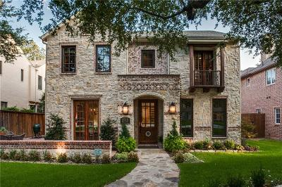Dallas, Highland Park, University Park Single Family Home For Sale: 2713 Westminster Avenue