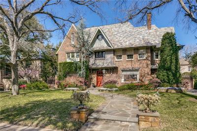 Dallas, Highland Park, University Park Single Family Home For Sale: 4312 Arcady Avenue