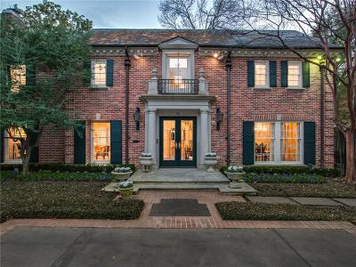 Dallas, Highland Park, University Park Single Family Home For Sale: 4433 Bordeaux Avenue