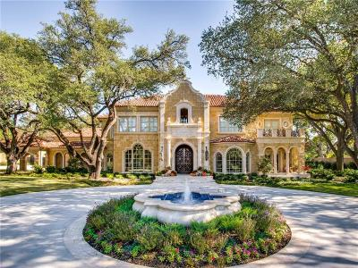 Dallas Single Family Home For Sale: 9720 Audubon Place