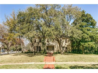 Dallas, Highland Park, University Park Single Family Home For Sale: 4332 Belclaire Avenue