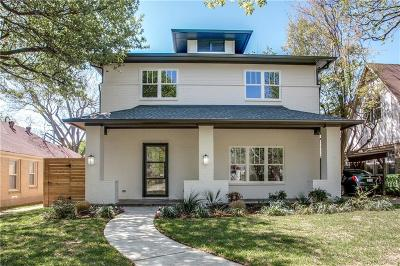 Dallas Single Family Home For Sale: 5942 Vanderbilt