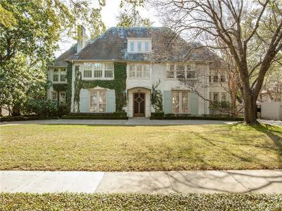Dallas, Highland Park, University Park Single Family Home For Sale: 4229 Arcady Avenue