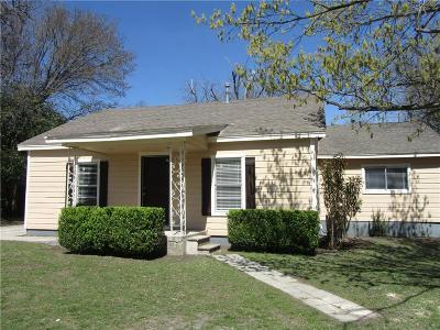 White Settlement Single Family Home Active Contingent: 8002 Melrose Street E